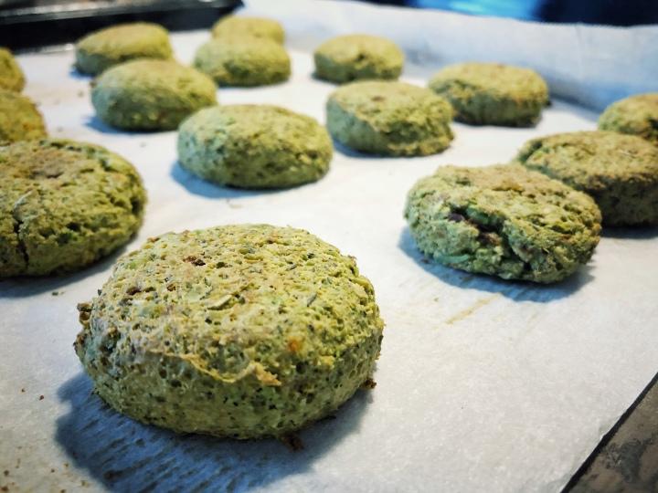 Croquettes vertes auxedamames