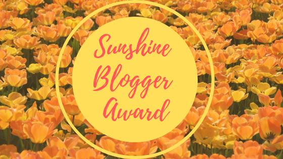 Je suis nominée au Sunshine Blogger Award2020!
